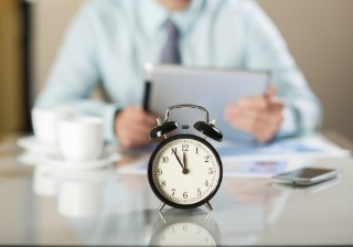 timing clock businessman