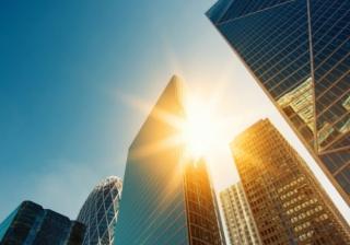 Finance sun summer lending city London