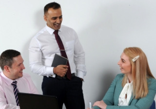 John Little, Khalid Mahmood and Sophie Jones YBS Commercial Midlands