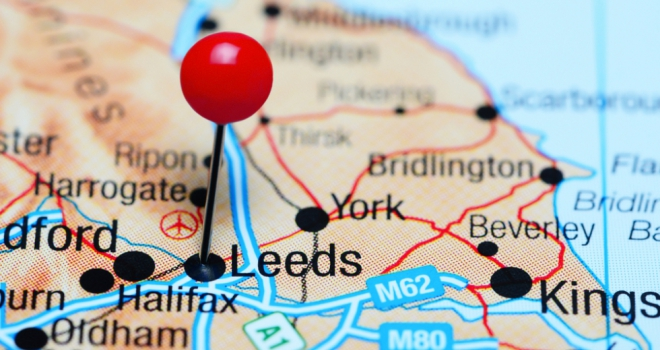 leeds york yorkshire map north