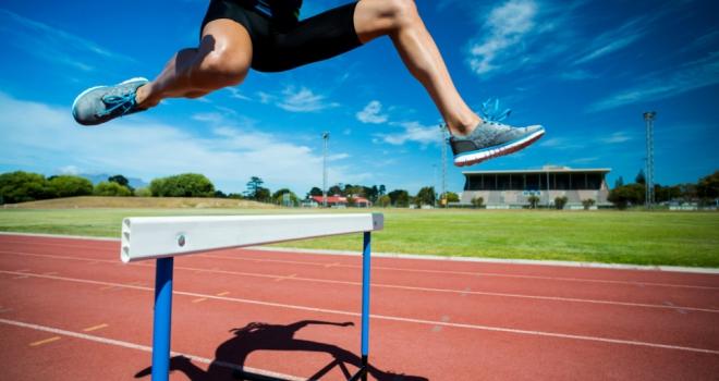 hurdle goal fast grow pass milestone